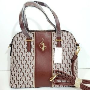 Baby Phat Signature Cat Brown and gold Satchel